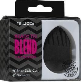 MILUCCA ספוגית שחורה עם זיגזג
