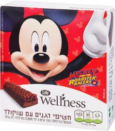 Life Wellness חטיפי דגנים עם שוקולד