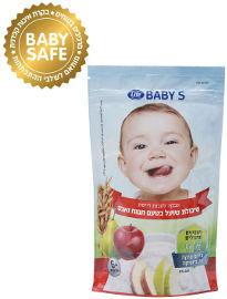 לייף בייביז אבקה להכנת דייסת שיבולת שועל בטעם תפוח ואגס +6 חודשים