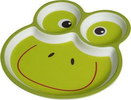 Life לייף קידס צלחת במבוק מחולקת צפרדע