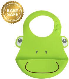 לייף בייביז סינר סילקון לתינוק צפרדע
