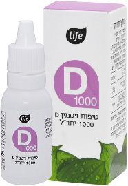 Life ויטמין D1000 טיפות