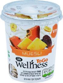 Life Wellness מוזלי פתיתי שבולת שועל עם פירות יבשים וזרעים