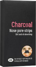 Life מדבקות לניקוי נקבוביות האף מועשרות בפחם ואלוורה
