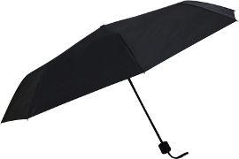לייף מטריה ידנית בצבע שחור מתקפלת 3 שלבים