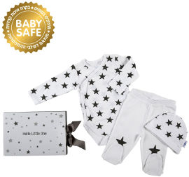 Life BABYS By Minene מארז מתנה נפתח אפור