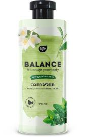 Life BALANCE תחליב רחצה תה ירוק ומנטה