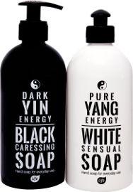 לייף סבון ידיים נוזלי אל סבון זוג שחור-לבן