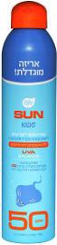 לייף SUN KIDS ספריי שקוף לעור רגיש SPF50 לילדים ללא אוקסביניזון
