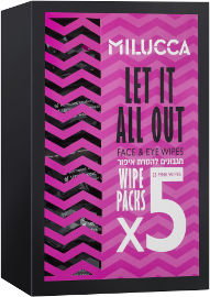 MILUCCA LET IT ALL OUT מארז מגבונים להסרת איפור עמיד