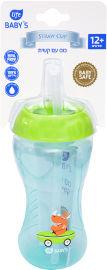 """לייף לייף בייביז בקבוק אימון לתינוק עם קש סילקון 12+ חודשים 340 מ""""ל"""