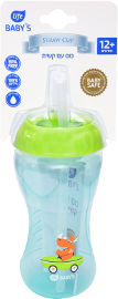 "Life BABY'S כוס אימון עם קש 340 מ""ל טורקיז/ירוק"