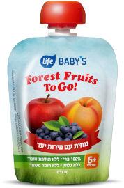 Life BABYS מחית פירות יער TO GO