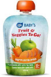 Life BABYS מחית פירות וירקות TO GO