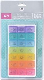 לייף ארגונית לתרופות שבועית יומית צבעונית-21 תאים