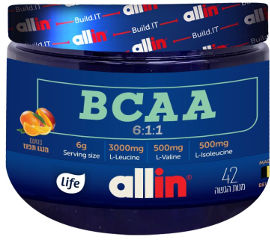 לייף אול אין אבקת BCAA בטעם מנגו תפוז