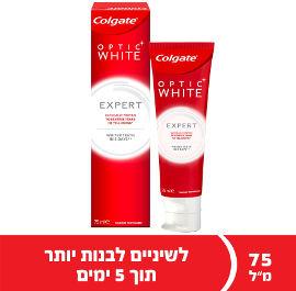 קולגייט משחת שיניים אופטיק וויט EXPERT WHITE
