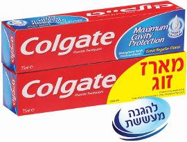 קולגייט אדומה משחת שיניים להגנה מקסימלית מפני עששת