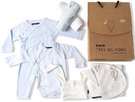 TAKE ME HOME מארז מתנה מפנק לתינוקות כחול 0-3