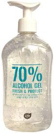 לייף אלכוהול ג'ל לשמירה על היגיינת הידיים 70% אלכוהול