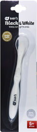 לייף לייף בייביז שחור לבן כפית סיליקון רכה במיוחד