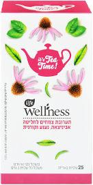לייף לייף וולנס Wellness תערובת צמחים לחליטה אכיניצאה נענע וקורנית