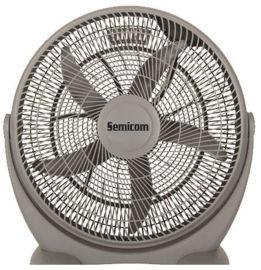 """Semicom Laxis מאוורר רצפתי """"98W 20 אפור יונדאי"""