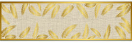 MyHoMy ראנר מגן חום - עלי זהב