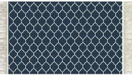 MyHoMy שטיח אמבטיה - ערבסק כחול