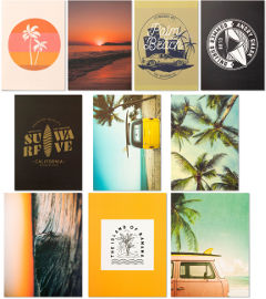 Funky Fish ערכת עיצוב בייסיק חדר Beach Vibes