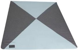 MINENE מזרן פעילות גדול מבד ג'רזי אפור כהה מילאנז' + כחול