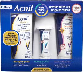 אקניל ערכה לטיפול בפצעונים : תחליב לחות והגנה + ג'ל ייבוש + תרחיץ לניקוי העור