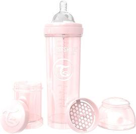 TWISTSHAKE בקבוק לתינוק ורוד מטאלי