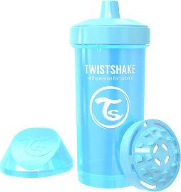 """TWISTSHAKE כוס מעבר 360 מ""""ל 12M+ כחול מטאלי -עם מנגנון למניעת נזילות"""