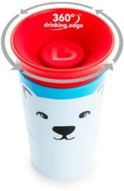 "Munchkin כוס ""הפלא"" 360 - אקו חיות כתום דולפין 266 מ""ל   מנצ'קין 17422"