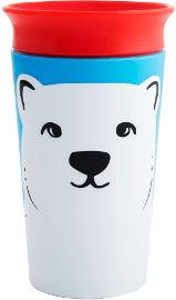 "Munchkin כוס ""הפלא"" 360 - אקו חיות אדום דוב 266 מ""ל   מנצ'קין 17422"