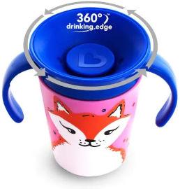 "Munchkin כוס ""הפלא"" 360 - אקו חיות כתום דולפין 177 מ""ל - עם ידית מנצ'קין 17423"