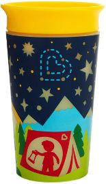"Munchkin כוס פלא 360 זוהרת בחשיכה  266 מ""ל צהוב - מנצ'קין 21193"