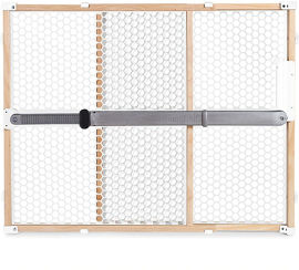 Munchkin שער בטיחות עץ ופלסטיק לתינוק לבן 31228