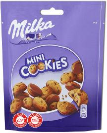 מילקה מיני קוקיס - עוגיות שוקולד צ'יפס ותחתית מצופה שוקולד חלב