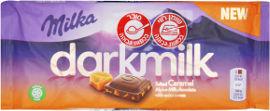 מילקה דארק שוקולד חלב עם תכולת קקאו גבוהה בתוספת קרמל מלוח