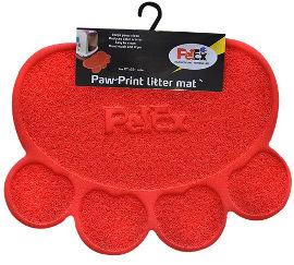 PETEX שטיח PVC לחתול אדום