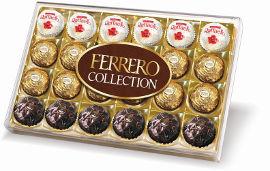 פררו רושה קולקשן - מבחר כדורי וופל מצופים שוקולד וקוקוס
