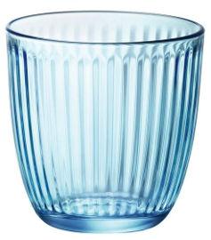 KUMI סט 12 כוסות פסים כחולות LINE