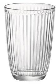 KUMI סט 12 כוסות פסים שקופות LINE