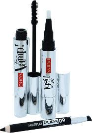 PUPA VAMP קיט מסקרה + קונסילר + עפרון עיניים