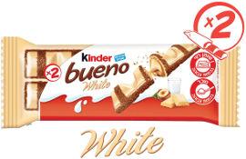 קינדר ופל ממולא בחלב ואגוזי לוז, מצופה בשוקולד לבן
