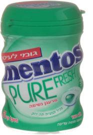 מנטוס מסטיק בבקבוק מעוגל בטעם מנטה עדינה