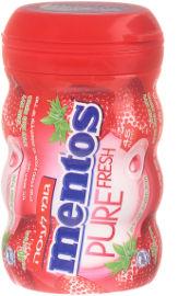 מנטוס מסטיק בבקבוק מעוגל תות