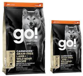 GO! Solutions גו כלב גורים ובוגרים Carnivore כבש וחזיר בר